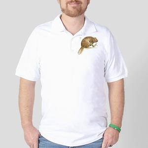 Beaver Animal Golf Shirt