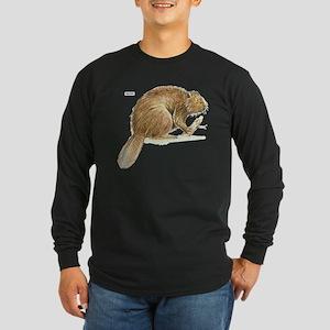 Beaver Animal Long Sleeve Dark T-Shirt