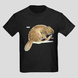 Beaver Animal Kids Dark T-Shirt