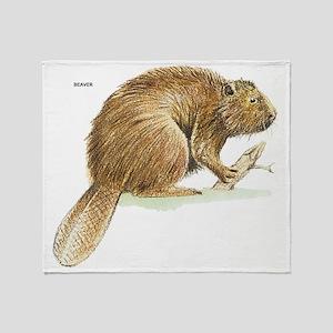 Beaver Animal Throw Blanket