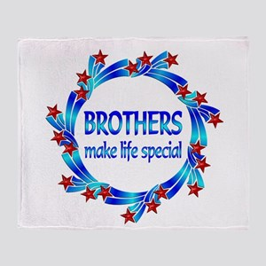 Brothers are Special Throw Blanket