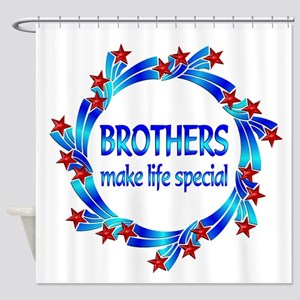 Brothers are Special Shower Curtain