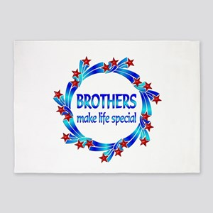 Brothers are Special 5'x7'Area Rug