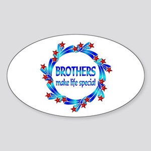 Brothers are Special Sticker (Oval)