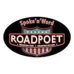 RoadPoet Biker Poetry Oval Sticker