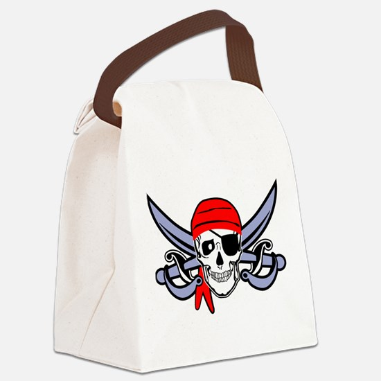 Pirate - Skull with Crossed Swords Canvas Lunch Ba
