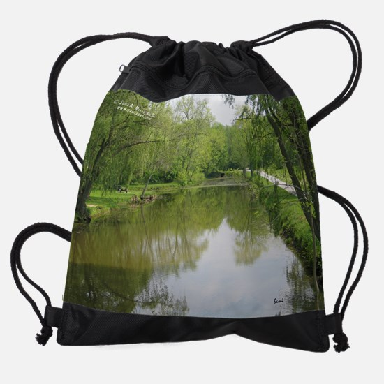 aprilwnature.png Drawstring Bag