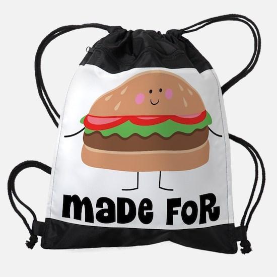 Hamburger and Fries Matching Drawstring Bag