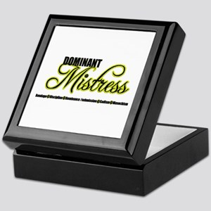 Dominant Mistress Title Keepsake Box