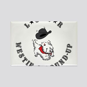 lone star westie Rectangle Magnet