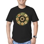 Celtic Wheel of the Year Men's Fitted T-Shirt (dar