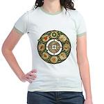Celtic Wheel of the Year Jr. Ringer T-Shirt