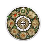 Celtic Wheel of the Year Ornament (Round)