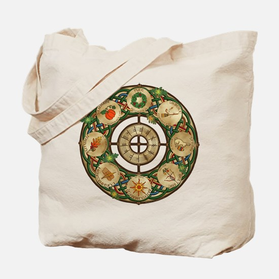 Celtic Wheel of the Year Tote Bag