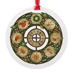 Celtic Wheel of the Year Round Ornament