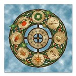 Celtic Wheel of the Year Square Car Magnet 3