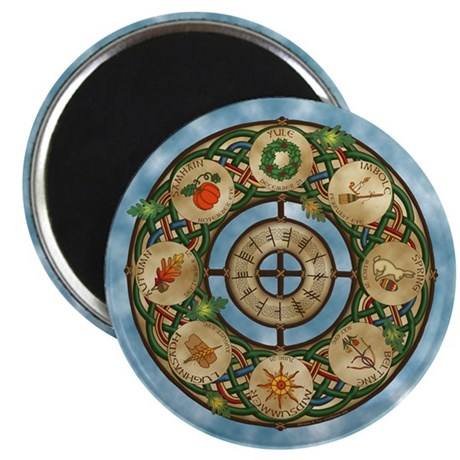 """Celtic Wheel of the Year 2.25"""" Magnet (100 pack)"""