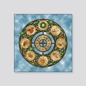 """Celtic Wheel of the Year Square Sticker 3"""" x 3"""""""