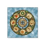 Celtic Wheel of the Year Square Sticker 3