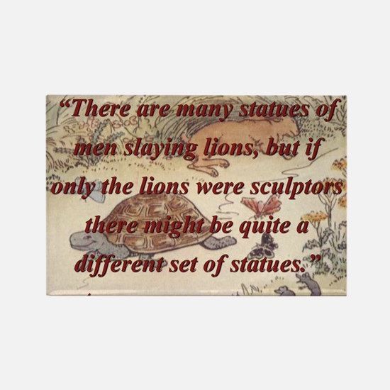 There Are Many Statues Of Men - Aesop Magnets