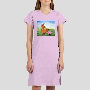 Easter Dachshund Women's Nightshirt