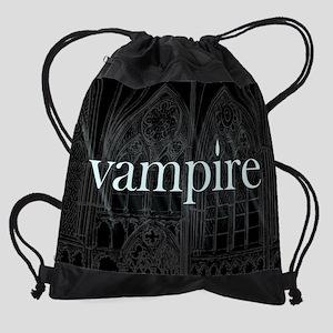 vampire gothic_cal_cards Drawstring Bag