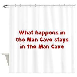 Garage Man Cave Shower Curtains