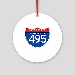 Interstate 495 - MA Ornament (Round)