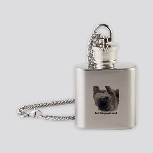 Just Hanging Around! Sloth Flask Necklace