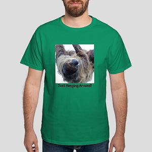 Just Hanging Around! Sloth Dark T-Shirt