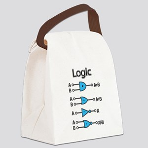 Digital Logic (txt) Canvas Lunch Bag