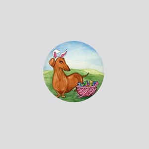 Easter Wiener Dog Mini Button