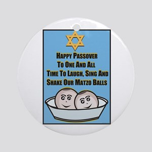 Happy Passover Matzo Ornament (Round)