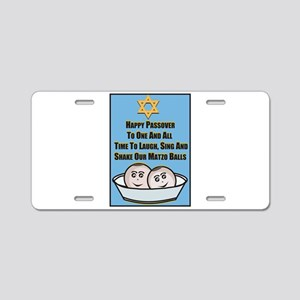 Happy Passover Matzo Aluminum License Plate