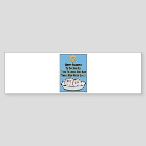 Happy Passover Matzo Bumper Sticker