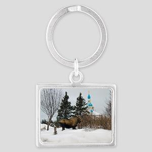 Moose Old Kenai Alaska Keychains