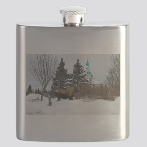 Moose Old Kenai Alaska Flask