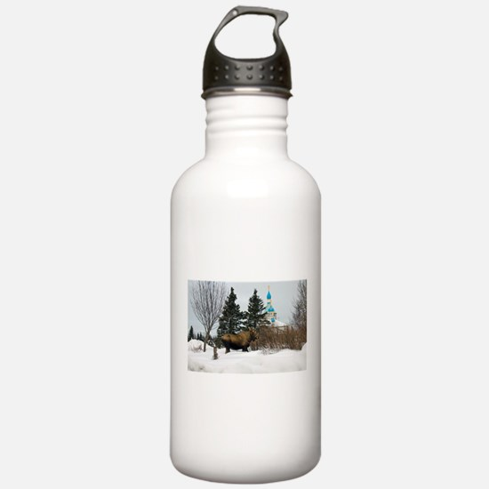 Moose Old Kenai Alaska Water Bottle