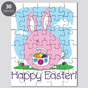 Happy Easter! Bunny Hiding Eggs Puzzle