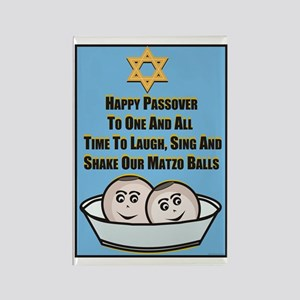 Happy Passover Matzo Rectangle Magnet