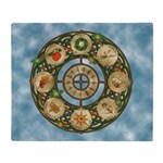 Celtic Wheel of the Year Throw Blanket