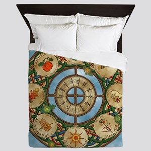Celtic Wheel of the Year Queen Duvet Cover