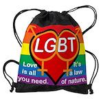 LGBT Marriage Drawstring Bag