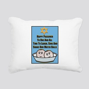 Happy Passover Matzo Rectangular Canvas Pillow