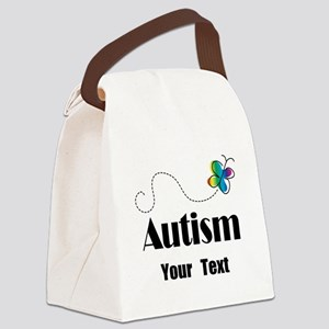 Personalized Autism Butterfly Canvas Lunch Bag