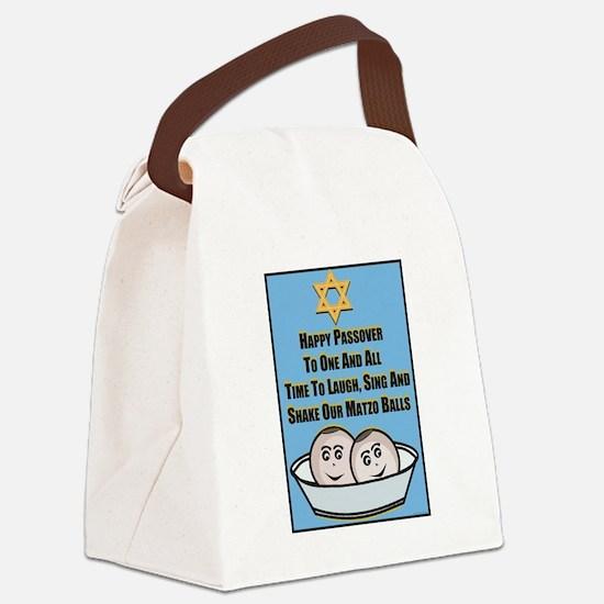 Happy Passover Matzo Canvas Lunch Bag