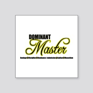 "Dominant Master Square Sticker 3"" x 3"""