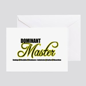 Art submissions greeting cards cafepress dominant master greeting card m4hsunfo