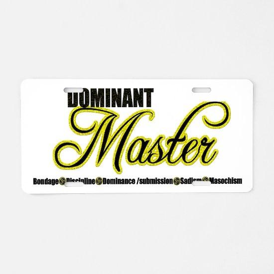 Dominant Master Aluminum License Plate