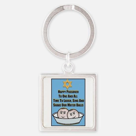 Happy Passover Matzo Keychains